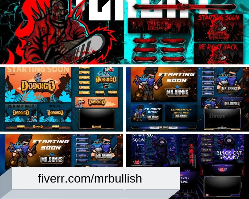 Graphics & Overlays for Twitch by mrbullish