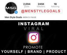 I will give instagram 245k follower shoutout on mens page
