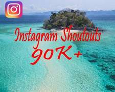 I will give you 12hr instagram shoutout on my 90k travel page