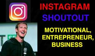 I will give you an instagram shoutout on 10k motivational page