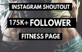 I will instagram shoutout on 175k fitness page