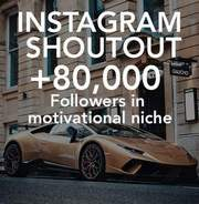 I will provide instagram shoutout in a 82k motivational account